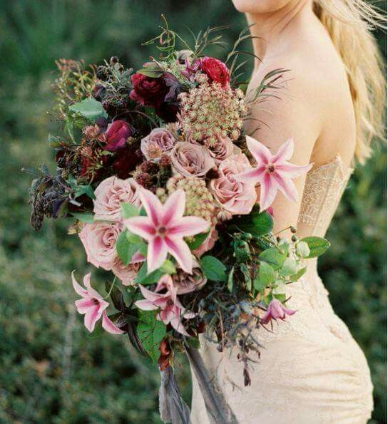 Not thrilled on the lilies but the rest of the bouquet...omg.