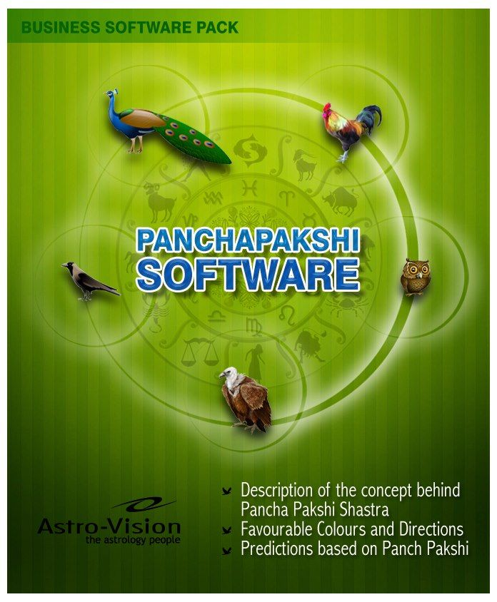 Predictions Based On Panch Pakshi Are Unique And Not Easily Available Elsewhere But With Astro Vision Panchapakshi Softw Software Astrology Software Astrology