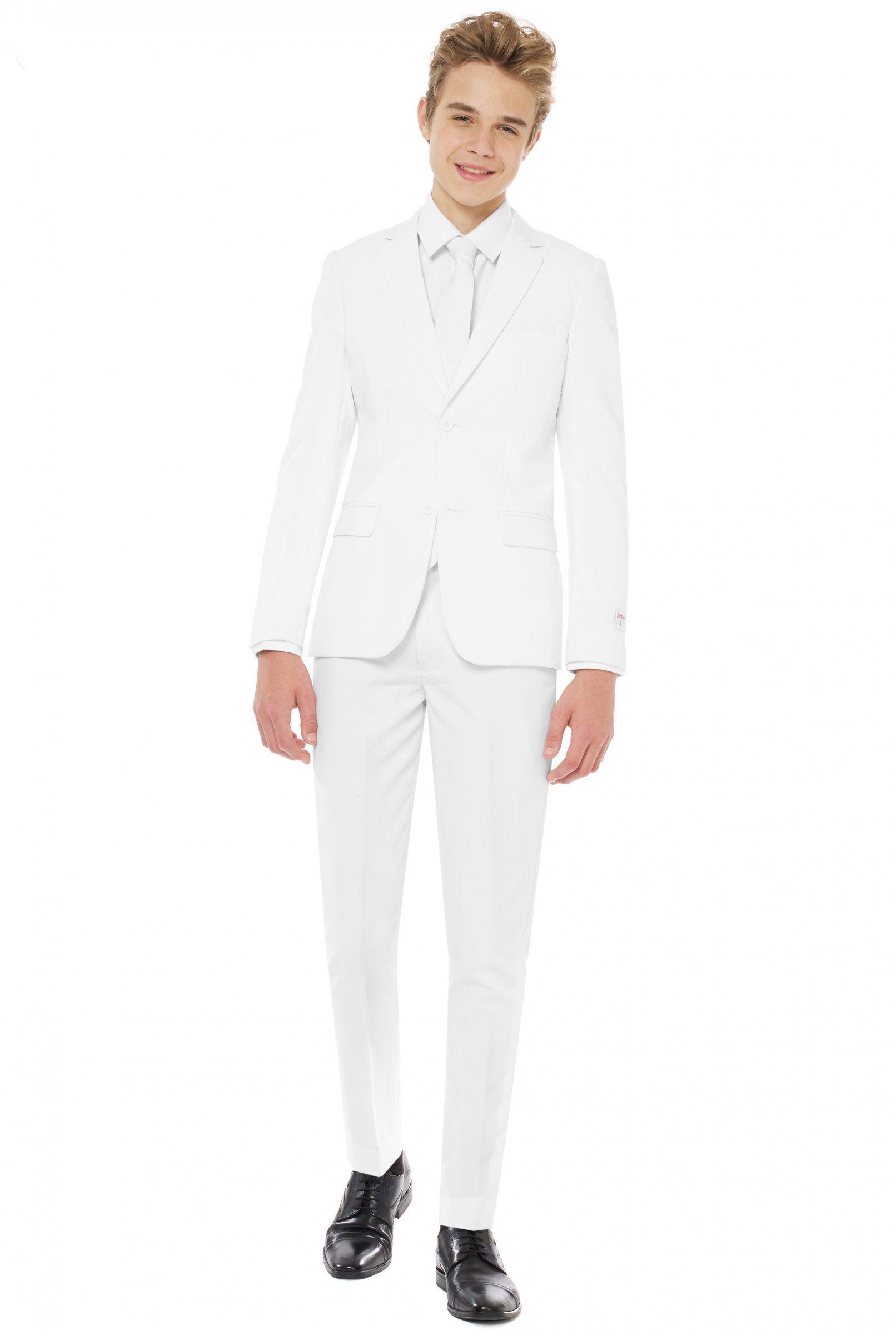 mr. blanc oppposuits™-kostüm für teenager weiss: kostüme für