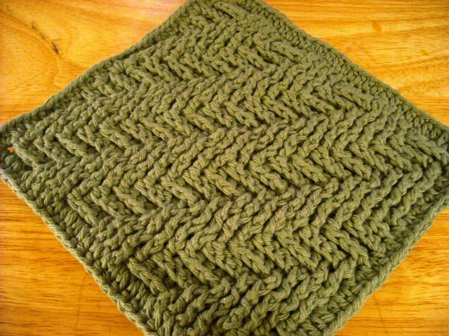 Crocheted Hot Pad-Sage Green-A very nice and thick Hot Pad, crocheted in cotton, can handle very warm pans and dishes. $10.00, via Etsy.