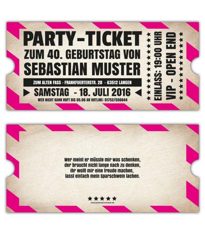 einadungskarten-originelle-einladung-ticket-eintrittskarte--vip, Einladung