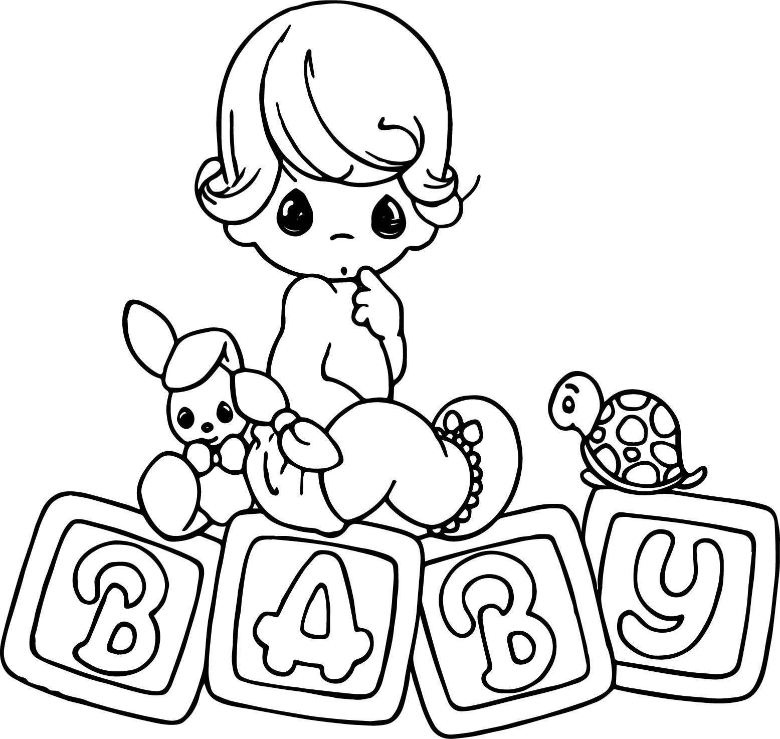 Free And Printable Coloring Page Precious Moments Coloring Pages Baby Coloring Pages Coloring Pages