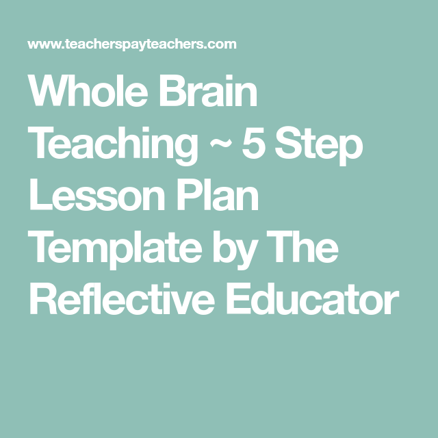 Whole Brain Teaching 5 Step Lesson Plan Template By The Reflective
