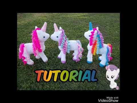 Amigurumi Unicornio Tutorial : Crochet unicorn tutorial part youtube