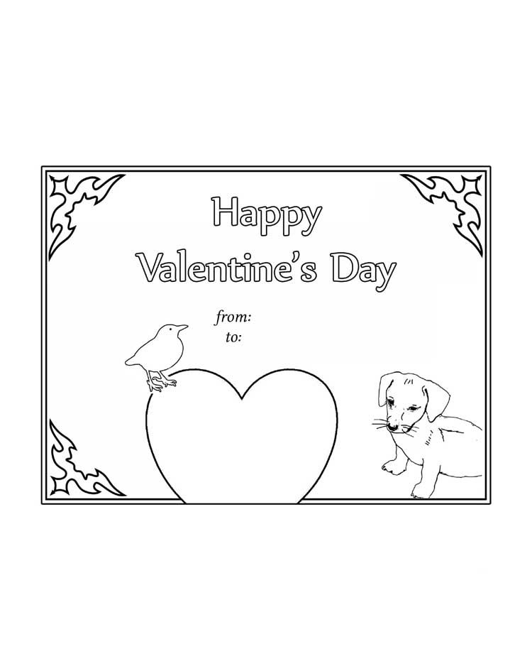 Color the card. HAPPY VALENTINE\'S DAY! | Worksheets | Pinterest ...