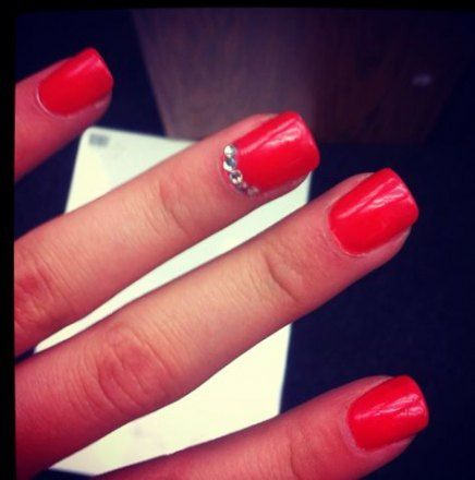 nails red diamonds bling 58 ideas  red acrylic nails