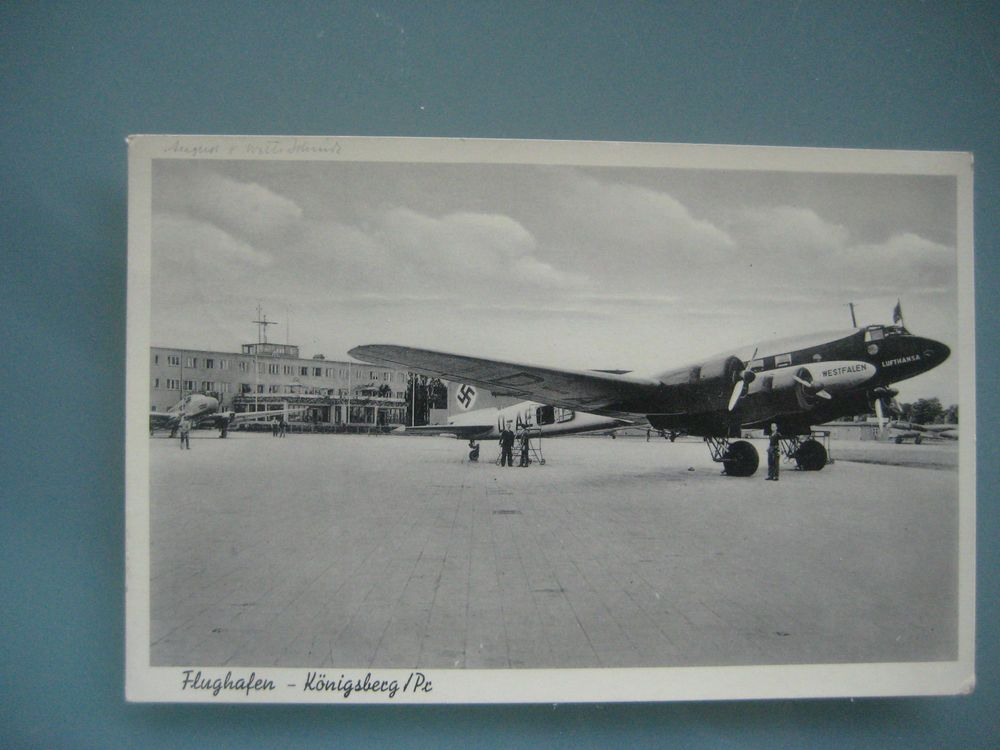 1940 Flughafen Königsberg / Pr. Flugzeug ( Lufthansa