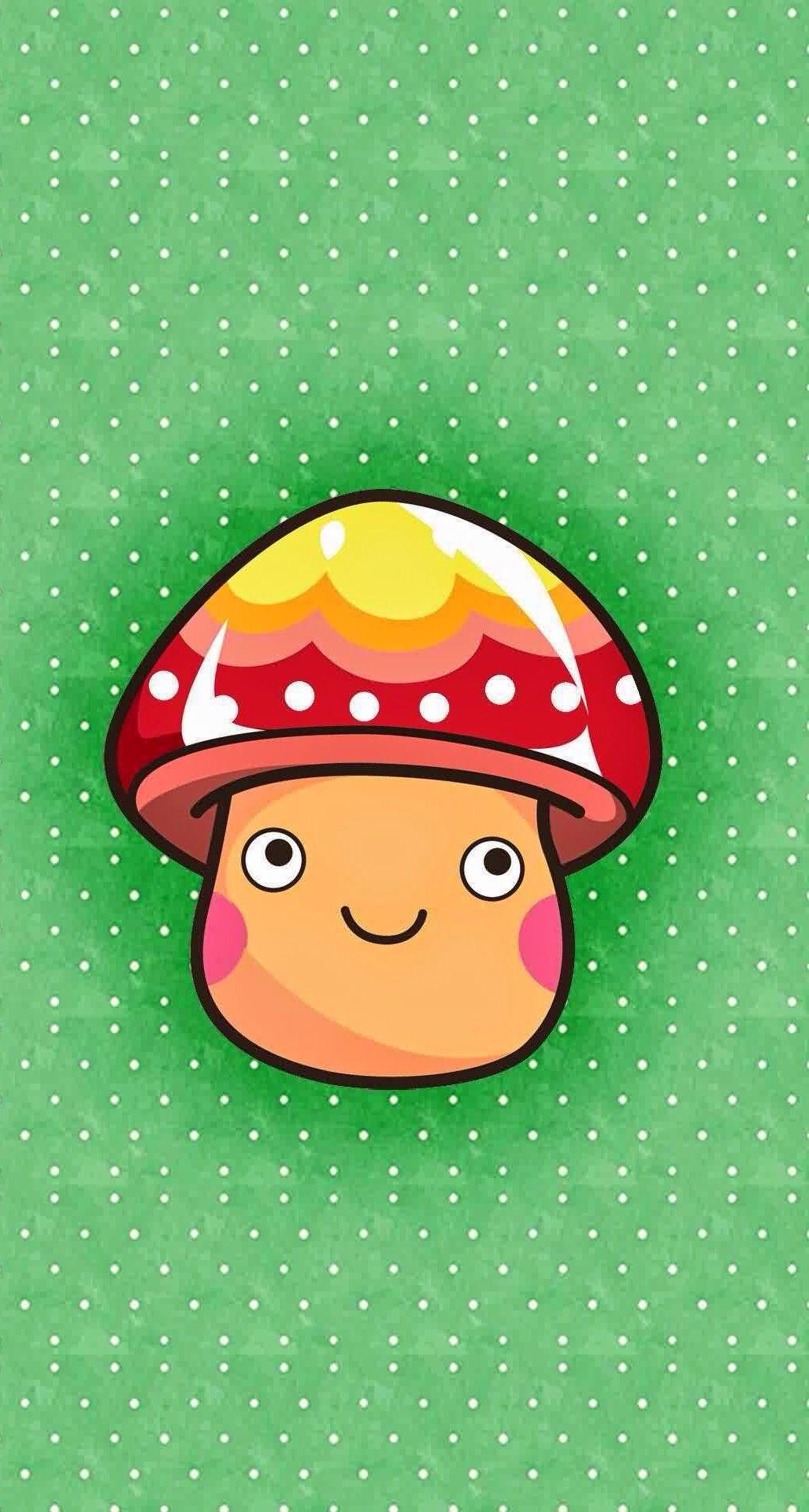 mushroom crush mania more cute iphone wallpapers at mobile9 com