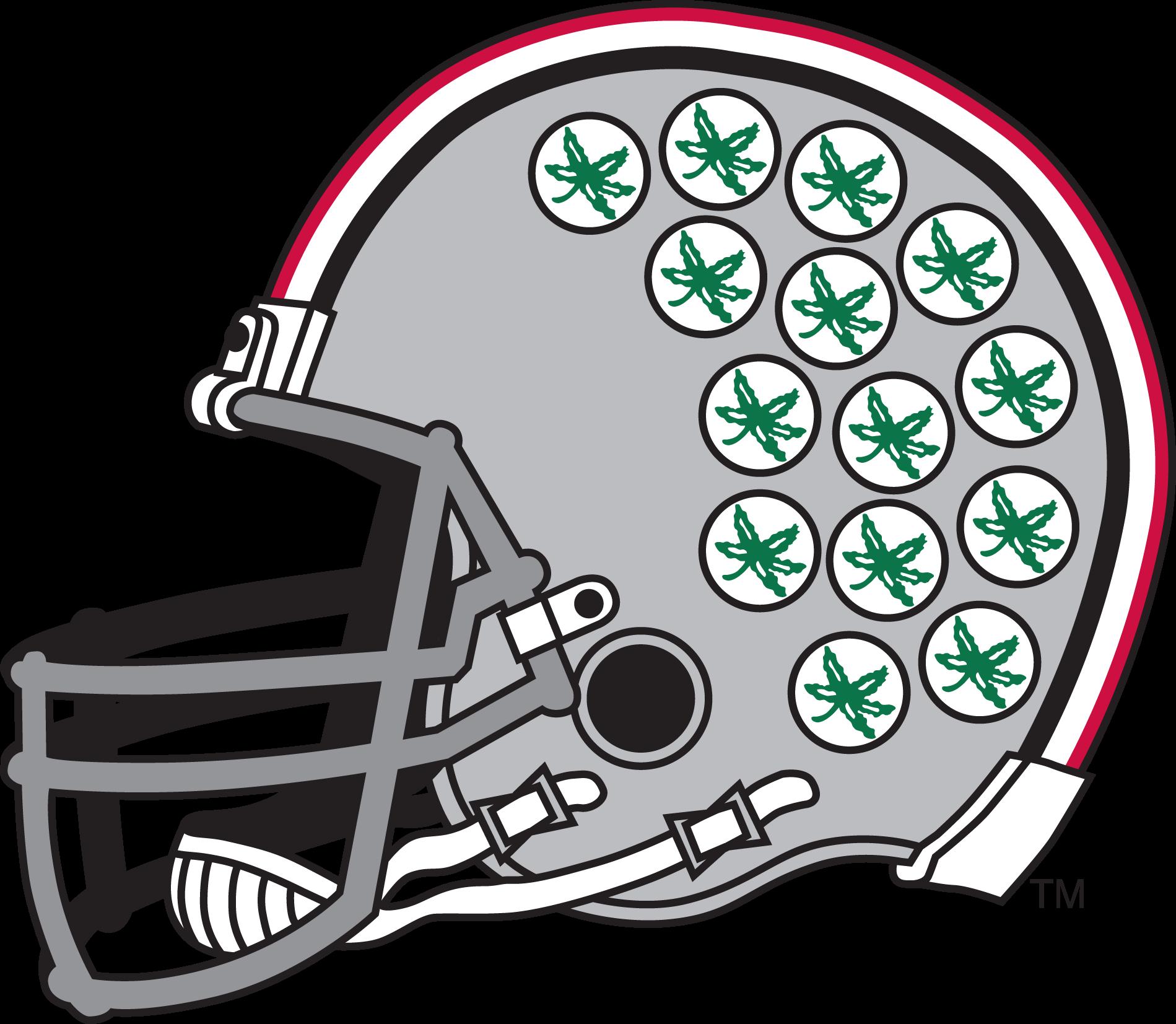Ohio State Football Helmet Drawing
