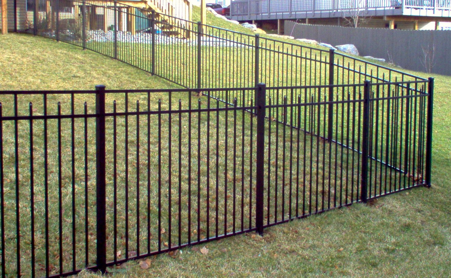 54 High 3 Rail 200 Style In Black Fence Sections Black Fence