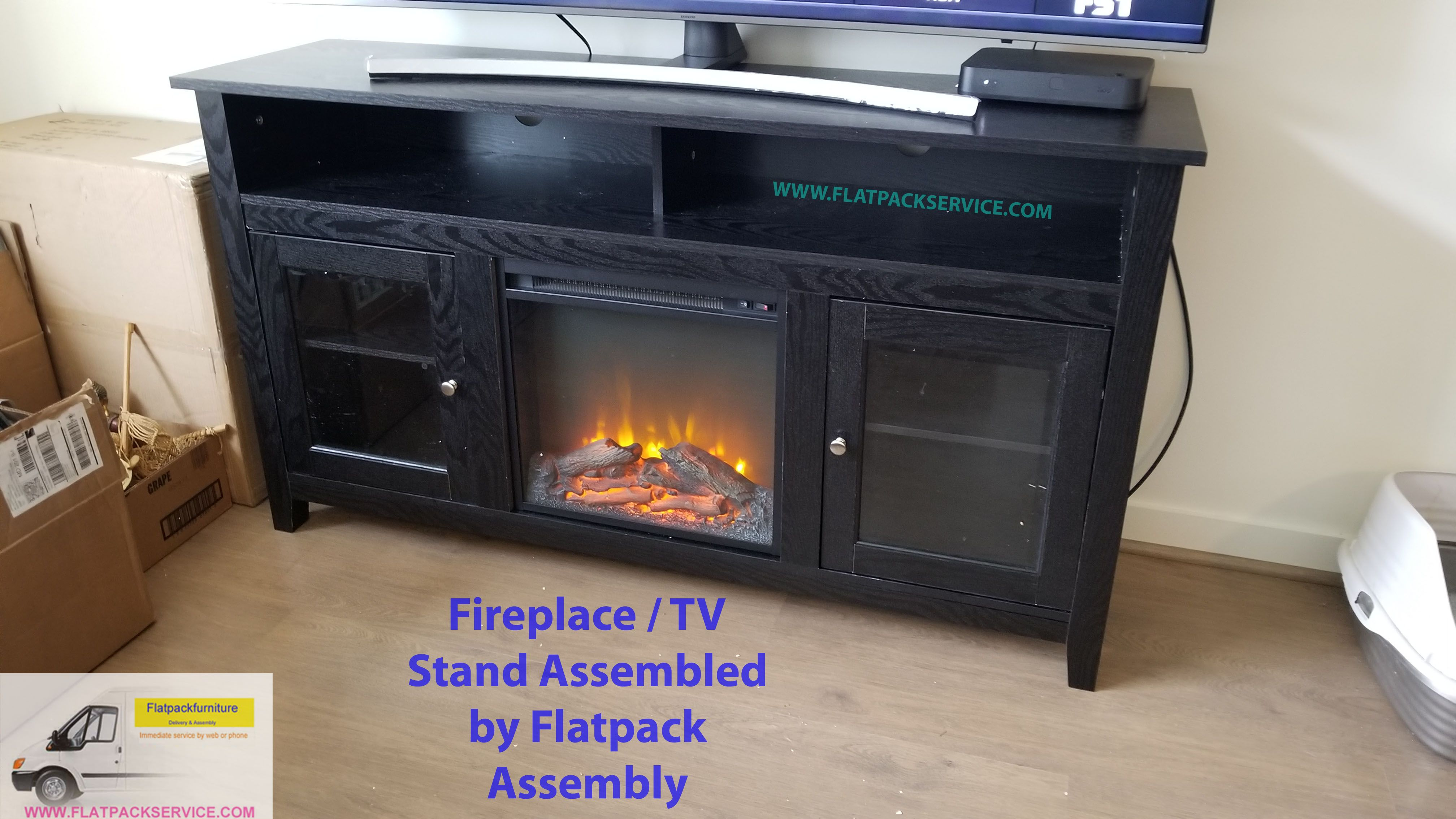 Electric Fireplace Assembly Service Washington Dc Flatpack Assembly And Delivery 202 277 5911 Electric Fi Furniture Assembly Flat Pack Furniture Cool Tv Stands
