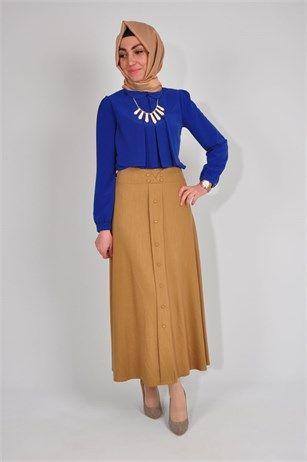 39d7c251a71be tesettür giyim etek modelleri #moda #fashion #diy #tesettür #allday #tunik