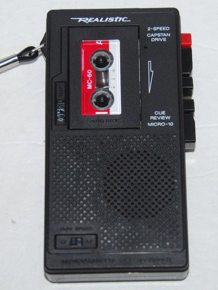Realistic Voice Recorder Micro Minisette Model 14 1016a Radioshack Voice Recorder Micro The Voice
