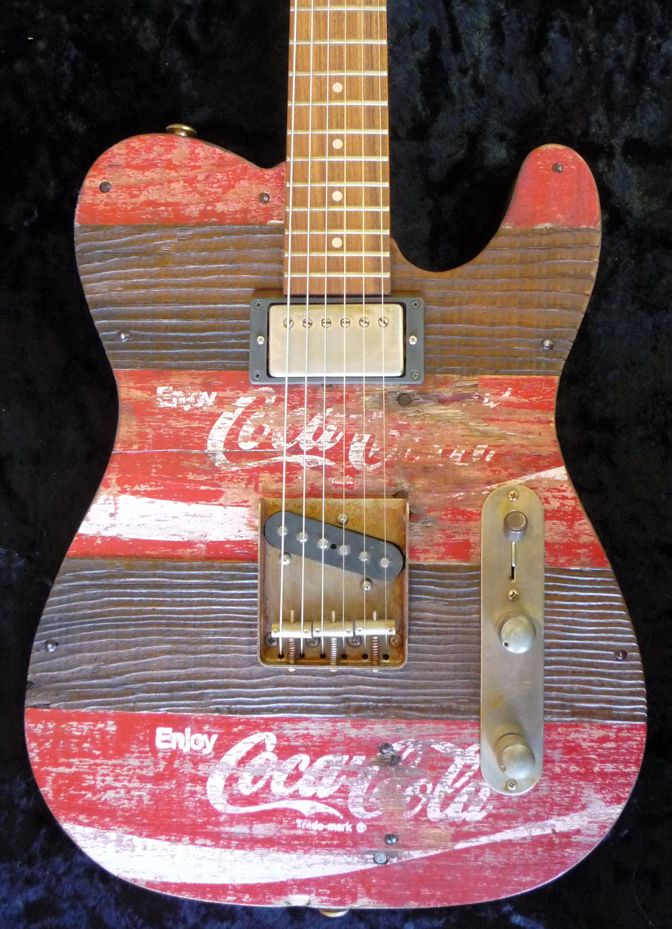 Crate O Caster Coca Cola 006 Body Custom Electric Guitars In Humbucker Wiring Challenge Mylespaulcom Telecaster Guitar