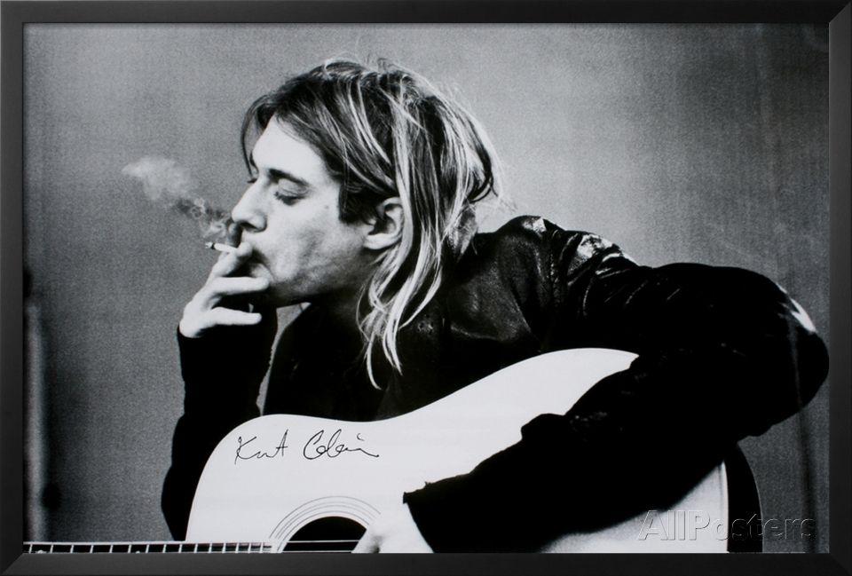 Kurt Cobain Lamina Framed Poster at AllPosters.com