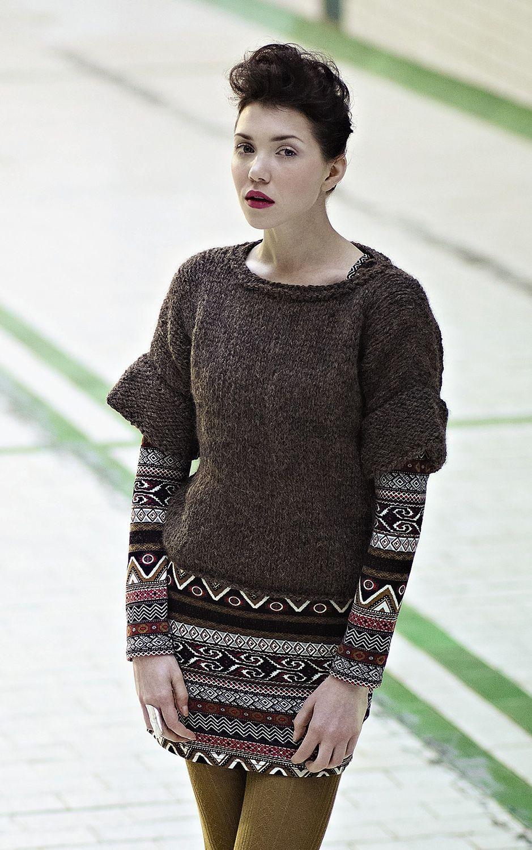 Poppadom pattern by Martin Storey: from Rowan Easy Winter Knits in ...