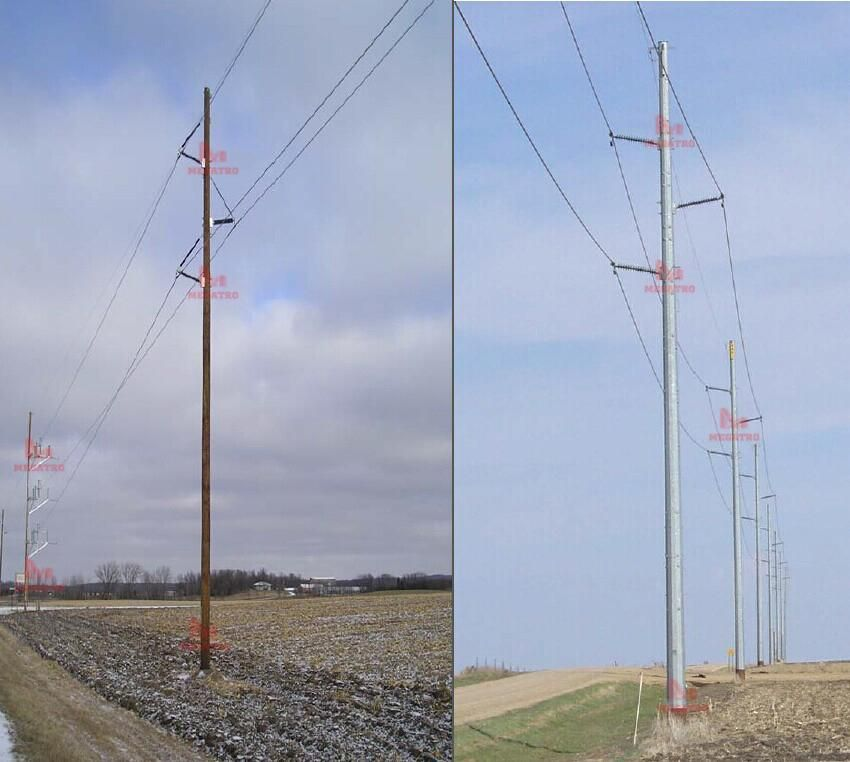 Double Pole Structure : Kv single circuit pole structure a
