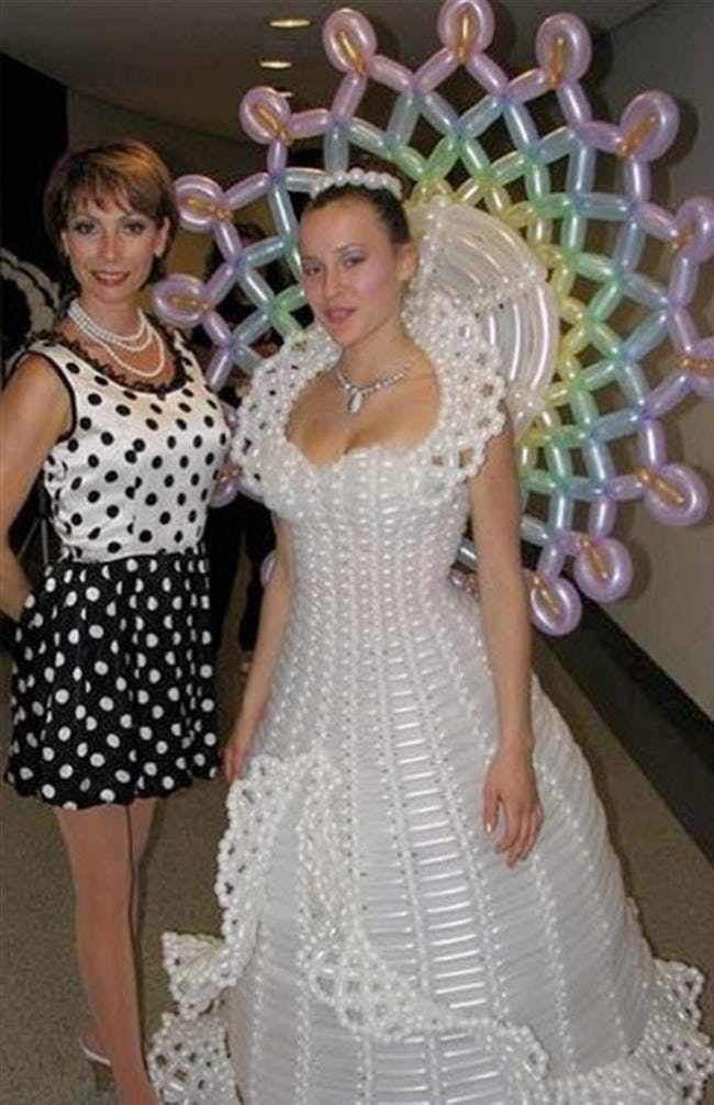 80df035e7f0 Pop Goes The Wedding Dress is listed (or ranked) 1 on the list The Absolute  Weirdest Wedding Dresses Ever