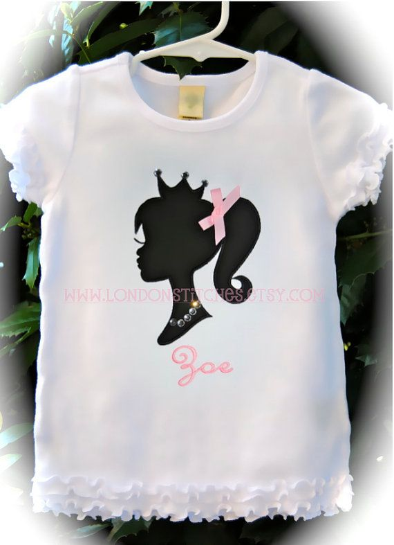 Personalized Princess Barbie Shirt Or Onesie By LondonStitches