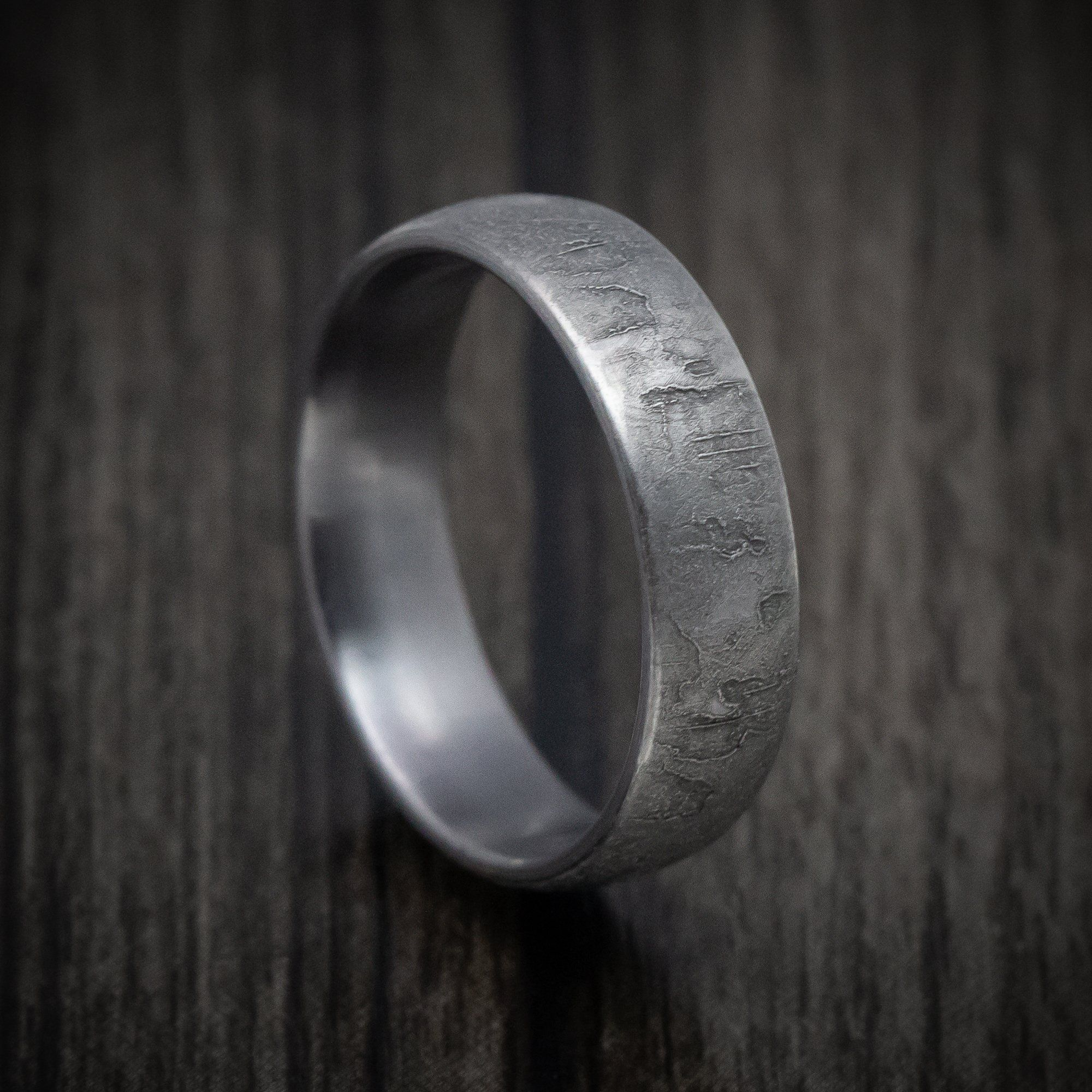 Textured Tantalum Wedding Band Wedding Bands Revolution Jewelry Band
