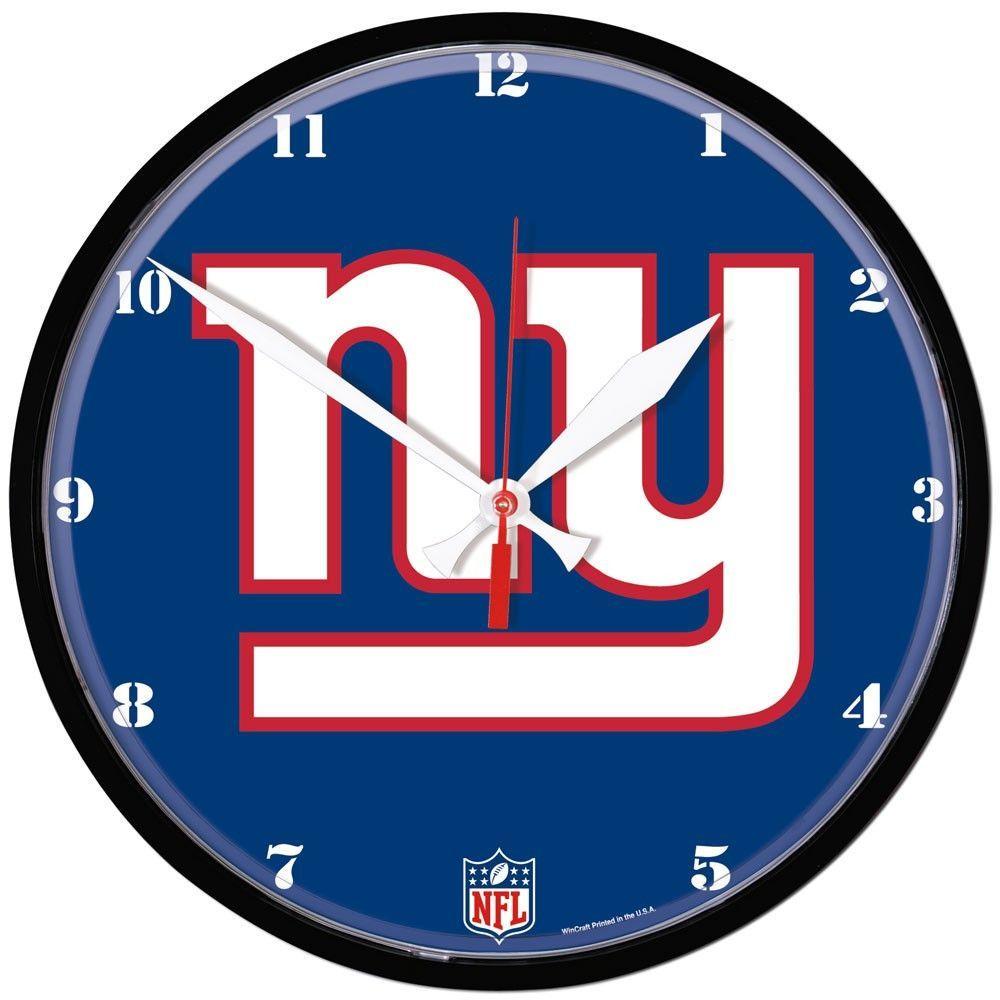 Giants nfl wall clock 1275 wall clocks clocks and team logo giants nfl wall clock 1275 amipublicfo Gallery