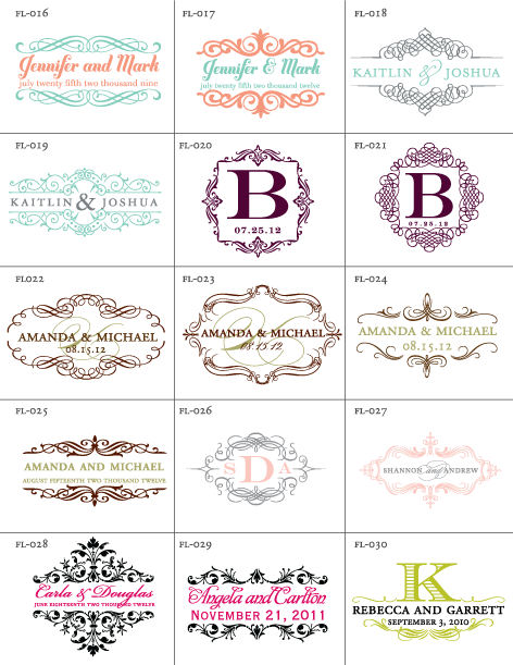 Free Wedding Flourish Designs