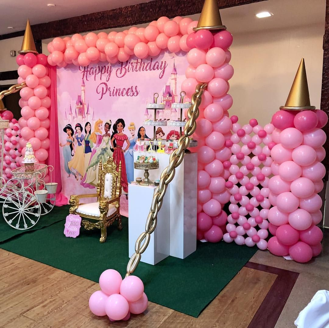 Princess Party By Styleyourparty Balloons By Poparazzi Pop Princess Birthday Party Decorations Disney Princess Party Decorations Princess Party Decorations
