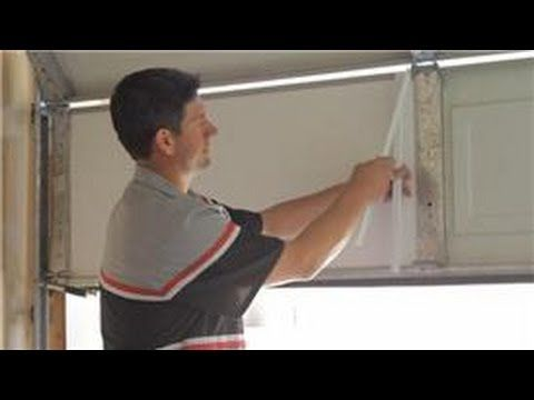 Garage Door Help How To Insulate A Garage Door Youtube Around