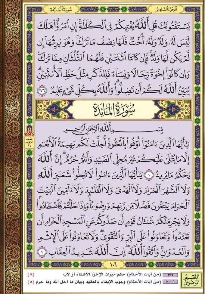١٧٦ النساء مصحف التقسيم الموضوعي Quran Verses Verses Bullet Journal