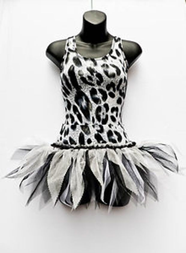 Tutu ONLY Animal Leopard Waistband Ballet Dance Costume Accessory Child Sizes,AS