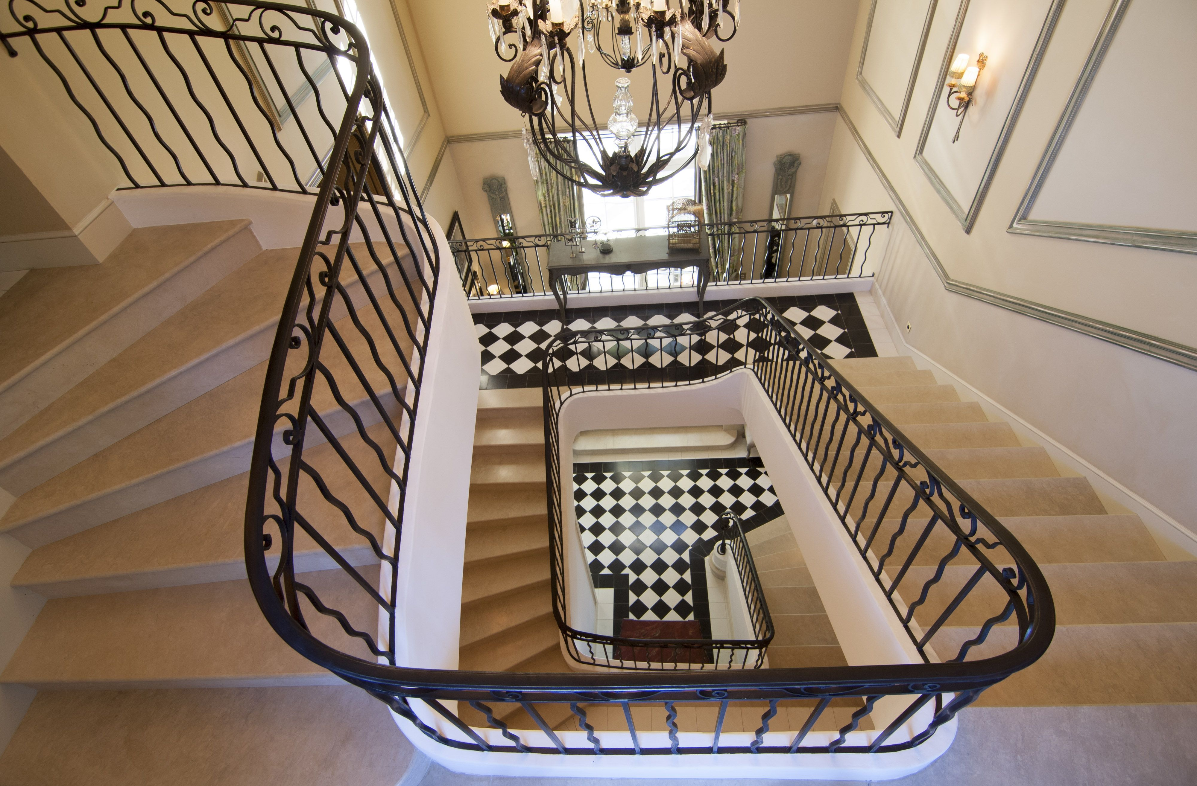 Ornate Staircase In French Villa In Provence