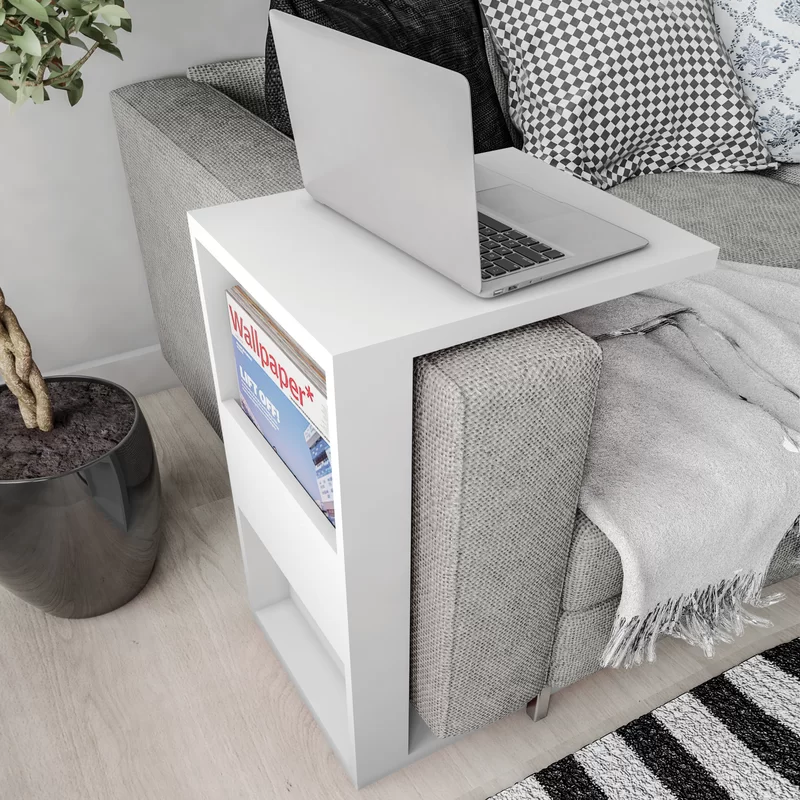 Photo of Chisdock Floor Shelf End Table with Storage