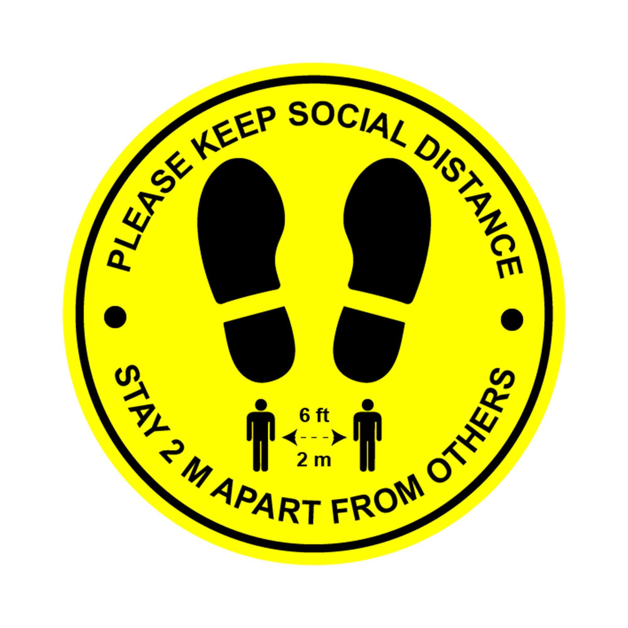 Social distance floor decals Social distance stickers