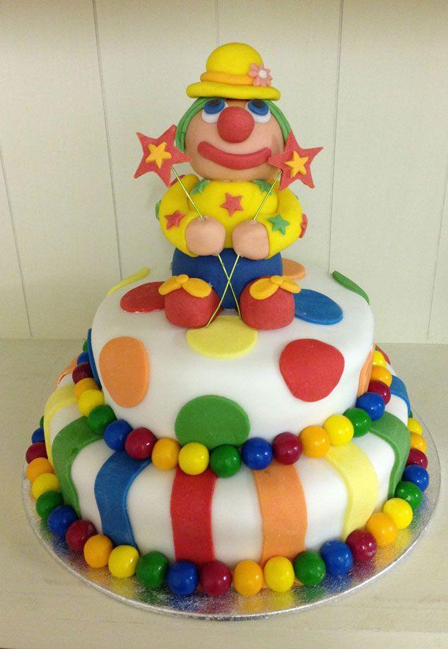 Clown Birthday Cake sugar craft Kids Pinterest Birthday