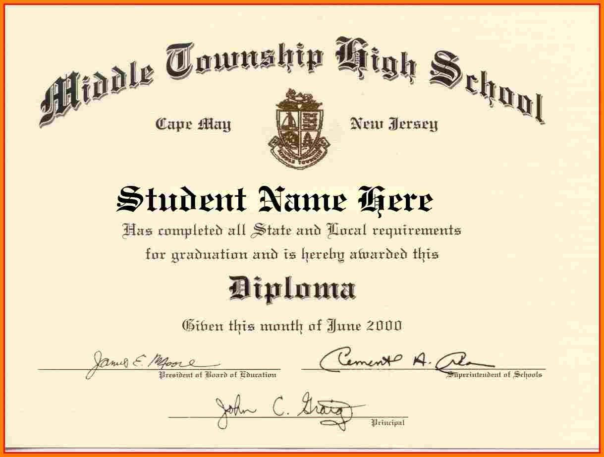 Looking For High School Diploma Template Word For Free Here You Go