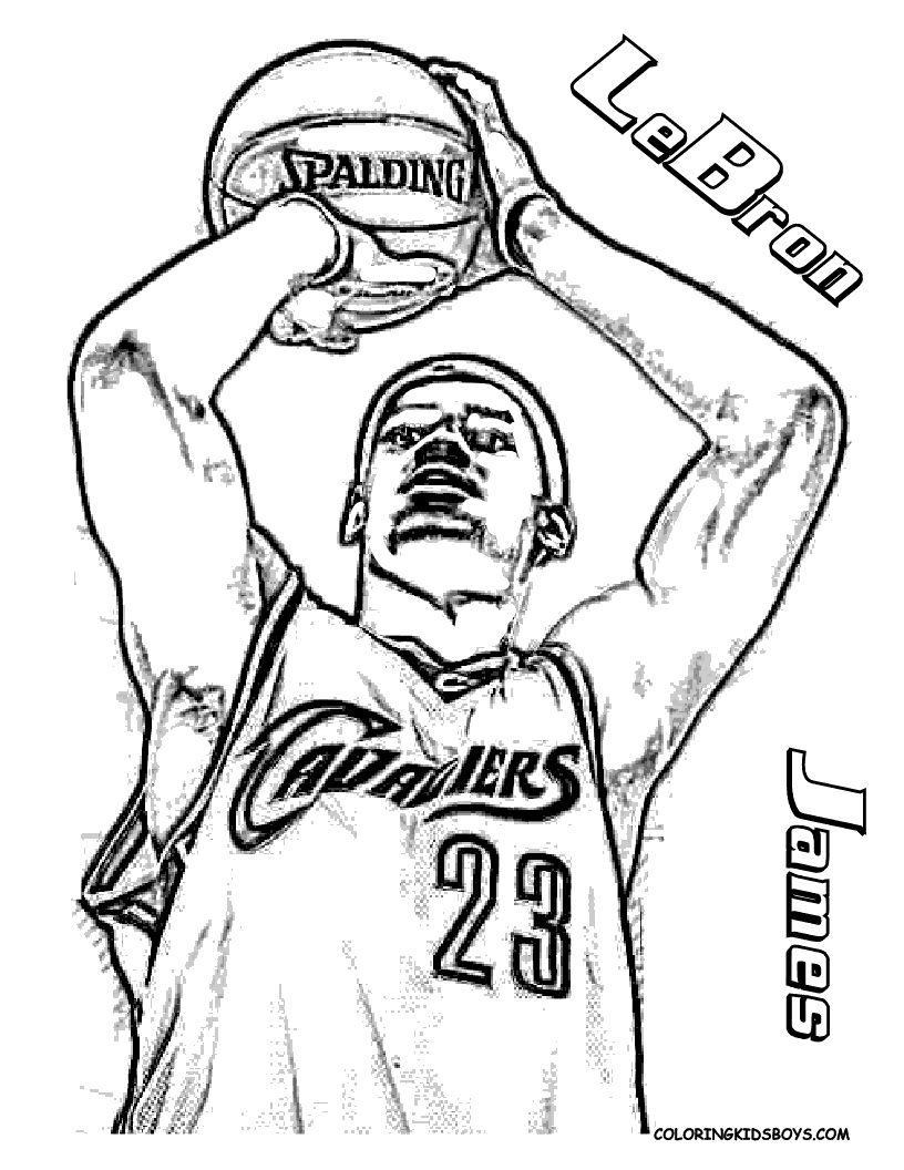 Big Boss Basketball Coloring Pictures Players Free Nba Pages