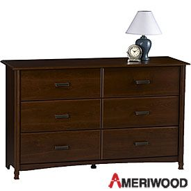 ameriwood cherry finish 6 drawer dresser at big lots 149 baby bean pinterest cherry. Black Bedroom Furniture Sets. Home Design Ideas
