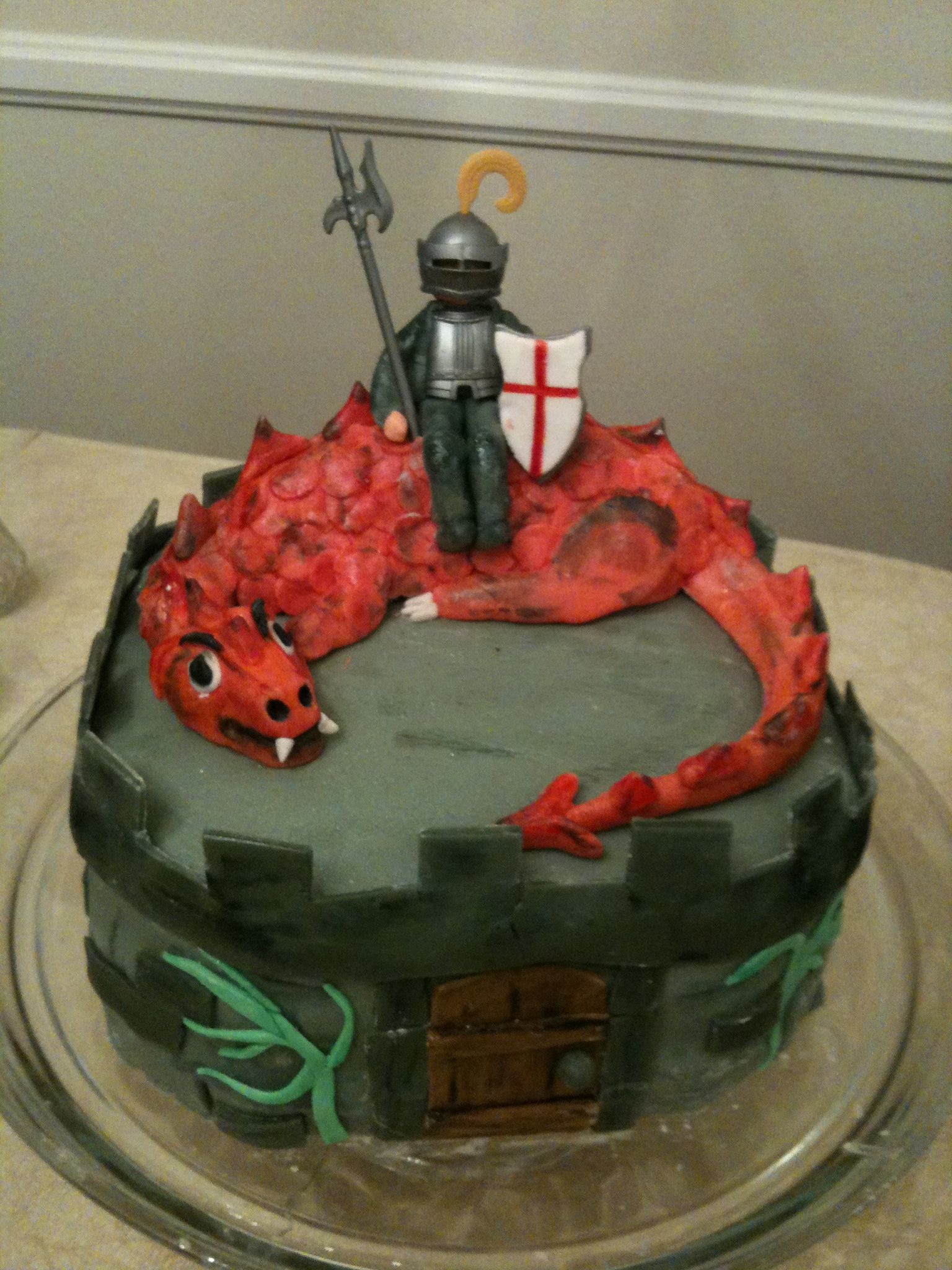 Here is a St George and the Dragon Cake for Michaelmas—complete with castle and drawbridge.