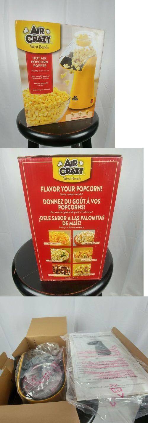 Popcorn Poppers 66752 West Bend 82419y Air Crazy Popcorn Popper