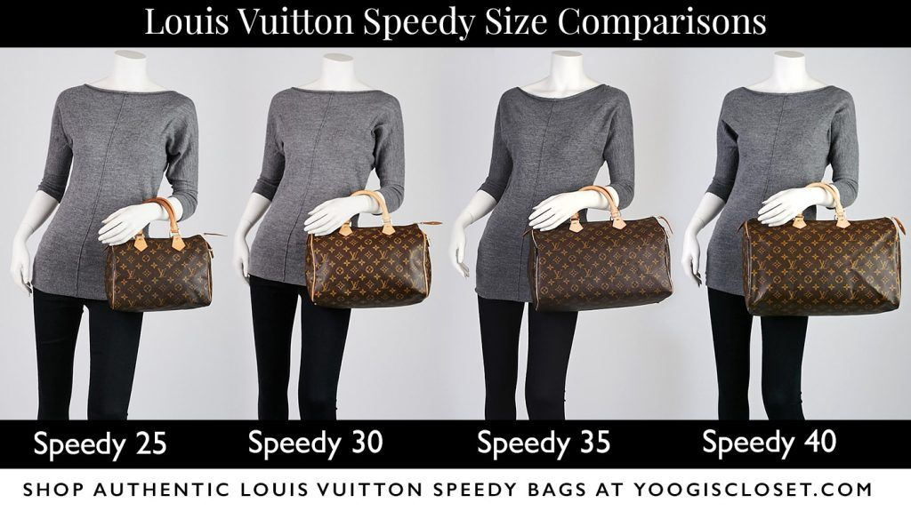 24a4dfec8b1f Louis Vuitton Speedy Model Size Differences