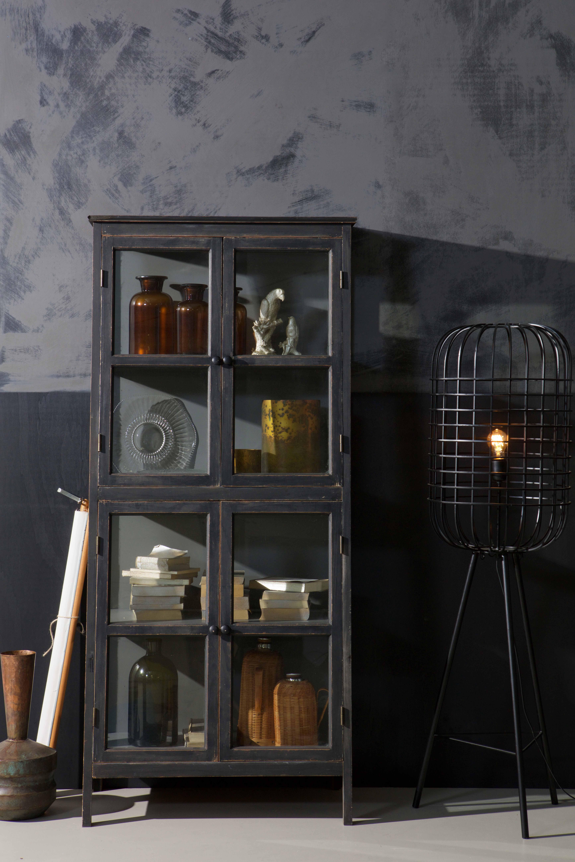 The Herritage cabinet with the Hurricane floor lamp by BePureHome #bepurehome #cabinet #floorlamp