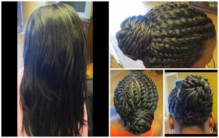 flat twists on relaxed hair   Natural hair styles, Natural ...