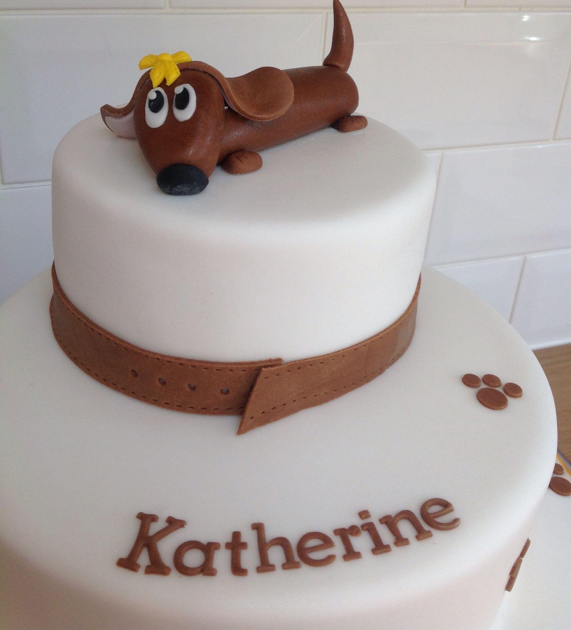 Sausage Dog Cake Cakes Pinterest Cake Dog Cakes And No Bake Cake