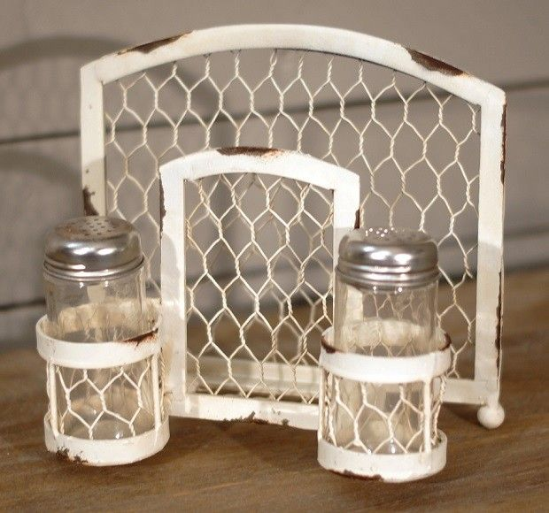 Rustic Napkin Salt Amp Pepper Caddy Napkin And Salt And