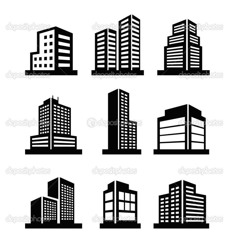 office building icon vector Google Search Графика