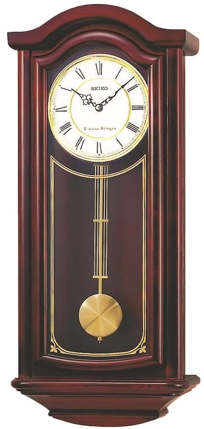 Seiko Wood Pendulum Wall Clock Qxh118blh