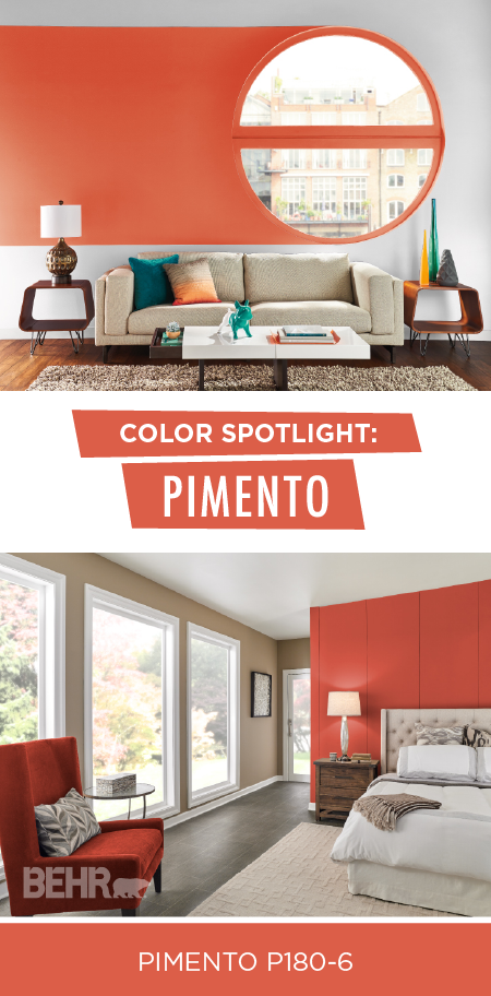 What Better Way To Celebrate The Beginning Of Fall Than With Behr Paint S Color Month Pimento This Orange Red Hue Calls Mind Image