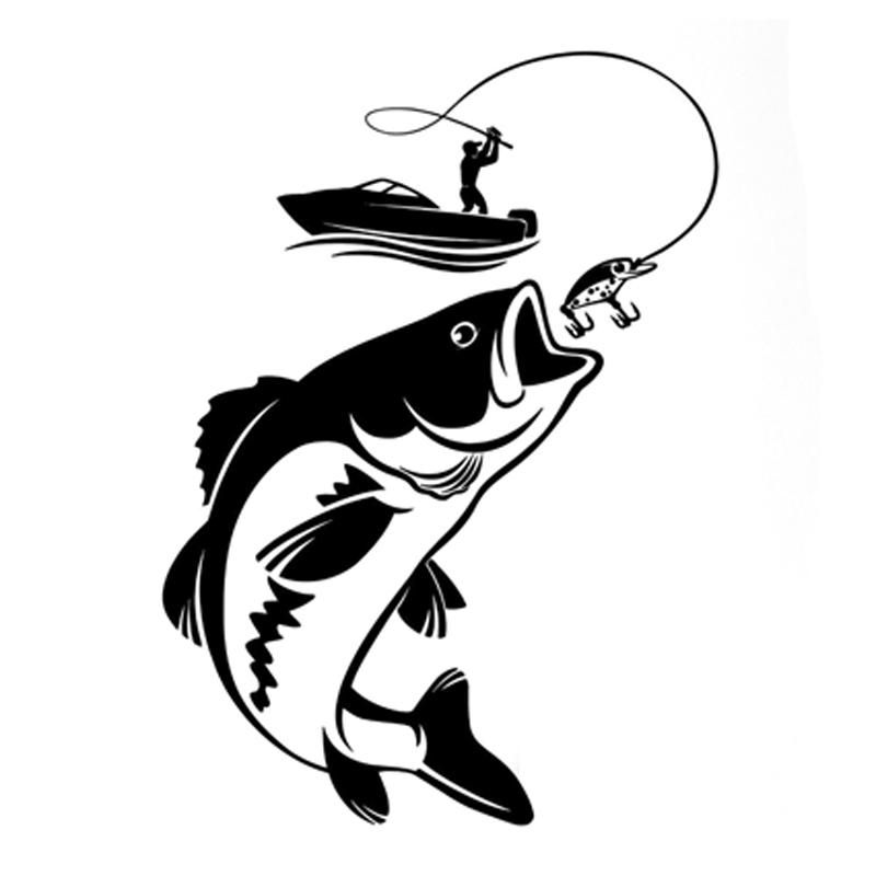 Fishing Sticker 12 3cm 17 1cm Tatuagem De Peixe Peixe Desenho