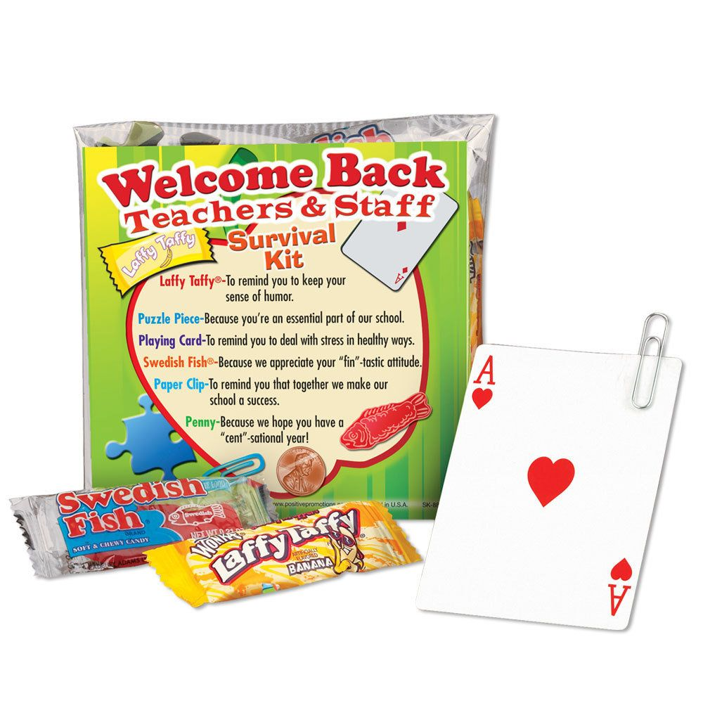 Welcome Back Teachers & Staff Survival Kit | Media Center ...