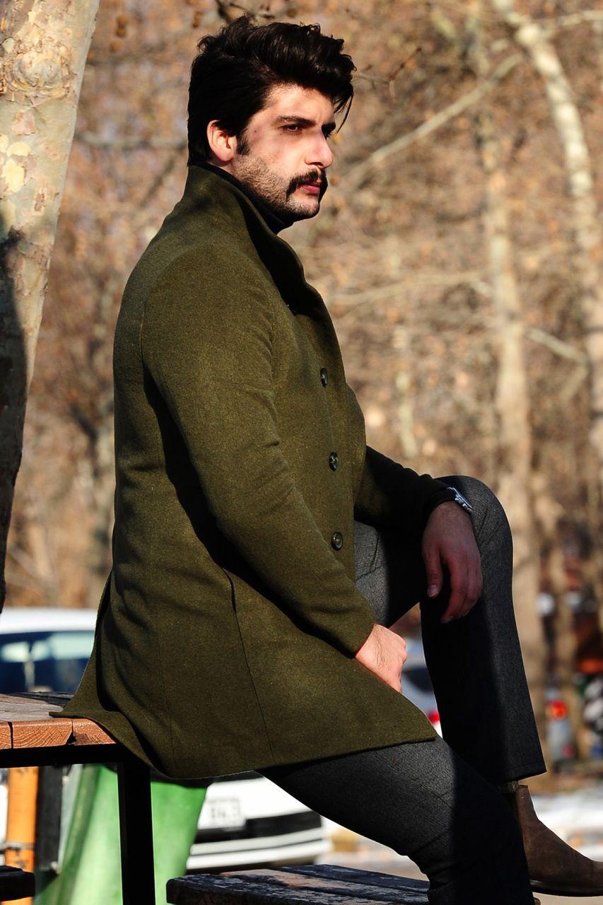 a70d9274394ea Şal Yaka Kaşe Kaban Haki #giyim #indirim #kampanya #bayan #erkek #bluz  #gömlek #trençkot #hırka #etek #yelek #mont #kaşe #kaban #elbise #abiye  #büyükbeden ...